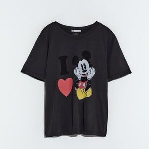 Zara Mickey Mouse t-shirt